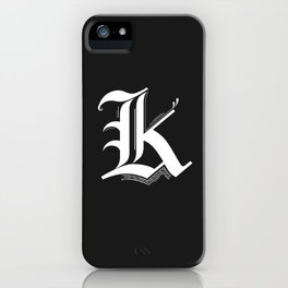 Letter K iPhone Case