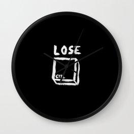 LOSE CTRL. | BLACK EDITION Wall Clock