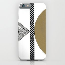 Geometric Shapes with Gold, Copper and Silver iPhone Case