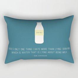 Ron Swanson Hates Lying Rectangular Pillow