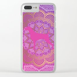 PINK WEIMS Clear iPhone Case
