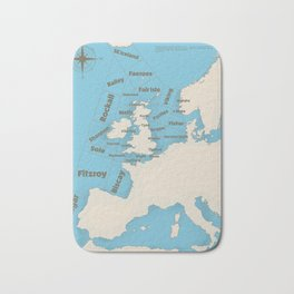 meteorological Shipping forecast. Bath Mat
