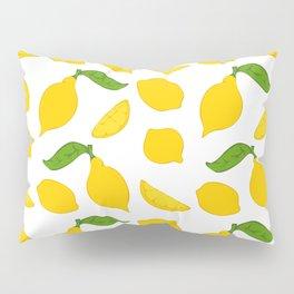 Meyer Lemons on White Pillow Sham