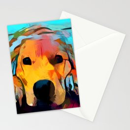 Golden Retriever 4 Stationery Cards