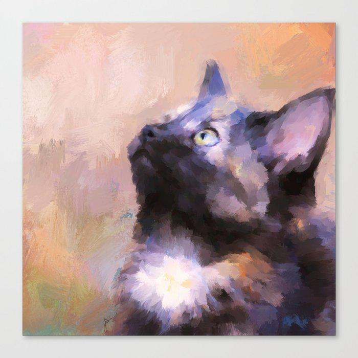 Tortoiseshell Kitten #3 Canvas Print