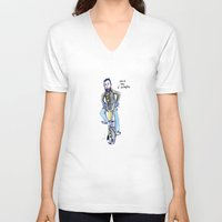 brompton V-neck T-shirts featuring Me and My Brompton by Swasky