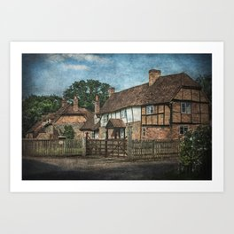 An Oxfordshire Village Art Print