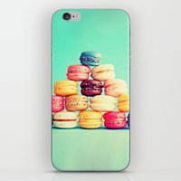macarons iPhone & iPod Skins featuring MACARONS by Ylenia Pizzetti