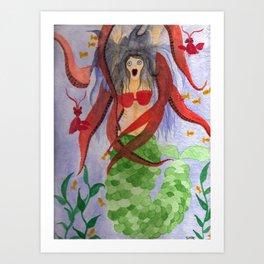 Mermaid Escape Art Print