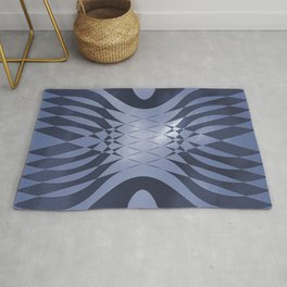 Angry Symmetry - Blue Rug