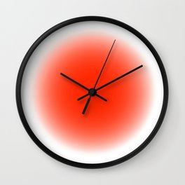 fluodot orange Wall Clock