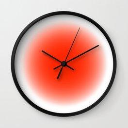 fluodot orange Wall Clock