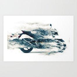 Dynamic motorcycle Art Print