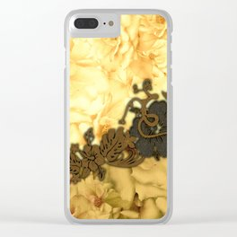 Wonderful flowers, yellow colors Clear iPhone Case