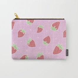 Pink red strawberries Carry-All Pouch