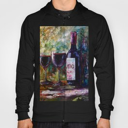 Aged Wine oil painting with palette knife Hoody