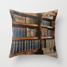 Knowledge - Antique Books on History & Law Throw Pillow
