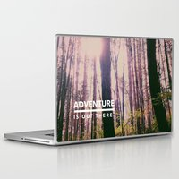 adventure is out there Laptop & iPad Skins featuring Adventure Is Out There by Olivia Joy StClaire