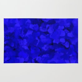 Rich Cobalt Blue Abstract Rug