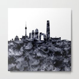 Beijing Skyline China Metal Print