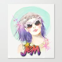 hologram Canvas Prints featuring J.E.M.✭✭✭✭✭ by Sara Eshak
