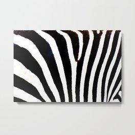 Zebra Pattern Print Metal Print