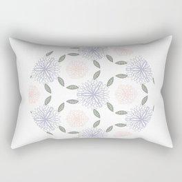 Floral circle Rectangular Pillow