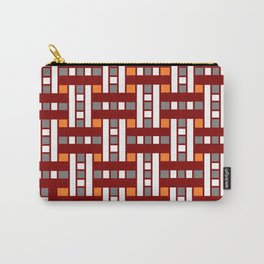 Cross Stitch Quilt Latter Design Chutes Weave Carry-All Pouch