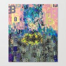 Bat Type Man - Abstract Pop Art Comic Canvas Print