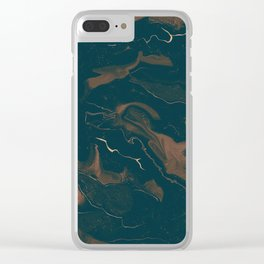 Abstract Astronomy in Sepia Clear iPhone Case