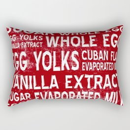 Cuban Flan Word Food Art Poster (Red) Rectangular Pillow