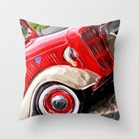ford Throw Pillows featuring Ford by Brandi Fitz Arts