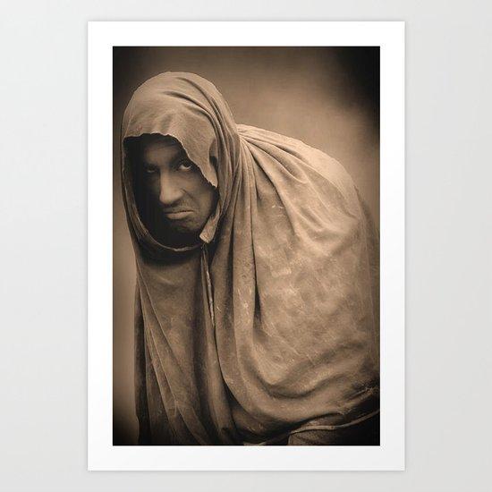 Statue Man Amsterdam Art Print