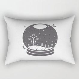 Halloween in a crystal ball Rectangular Pillow