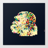 8bit Canvas Prints featuring Ape 8bit by jnk2007