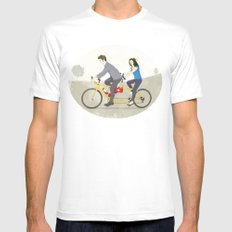 Hop on Spider Monkey MEDIUM White Mens Fitted Tee