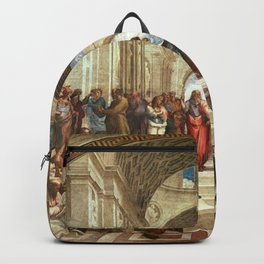 School Of Athens Painting Backpack