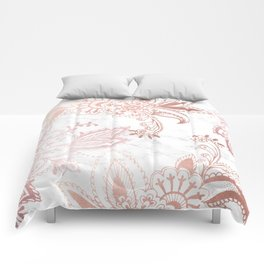 Rose Gold Paisley Comforters