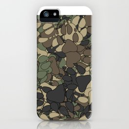 Wolf paw prints camouflage iPhone Case