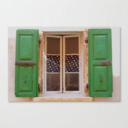 Windows of Croatia  Canvas Print