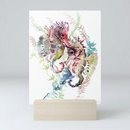 Seahorse, Soft Coral Colors Mini Art Print