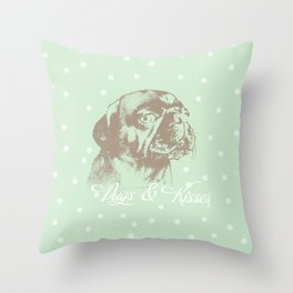 Pugs & Kisses Throw Pillow