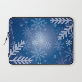Blue Snowflakes Christmas Laptop Sleeve