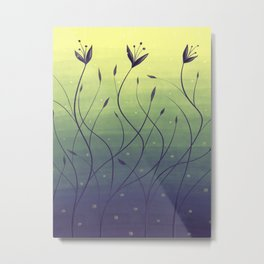 Purple Algae Plants In Green Water Metal Print
