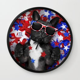 USA DOG Wall Clock