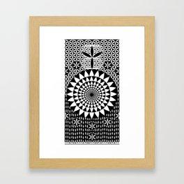 Flower-of-Life Design Sacred Geometry Black White Framed Art Print
