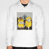 gothic Hoodies featuring Minion Gothic by le.duc