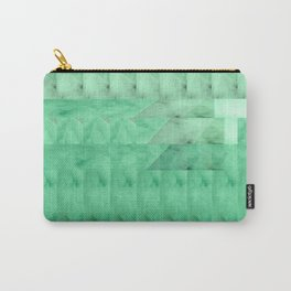 Marble Print Green Carry-All Pouch