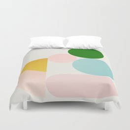 Abstraction_Minimal_Shapes_001 Duvet Cover