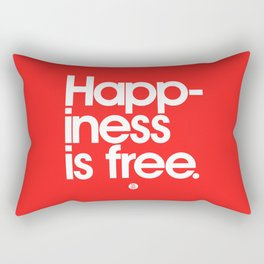 Happiness Is Free Rectangular Pillow